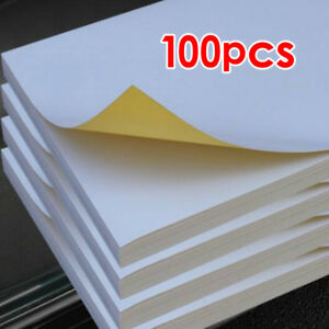 Viscose Paper A4 White Self Adhesive Sticky Sticker Address Label Printing