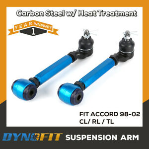 Rear Adjustable Camber Arm Kit Performance Suspension Alignment Fit 98 02 Accord