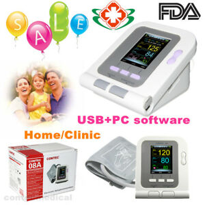 Us Seller Digital Color Lcd Blood Pressure Monitor Adult Bp Cuff usb Pc Software