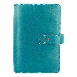 Filofax 026026 Malden Personal Leather Organizer Calendar Kingfisher New