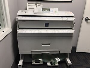 Ricoh Aficio 240w Wide Format Printer Plotter For Scanning Or Parts