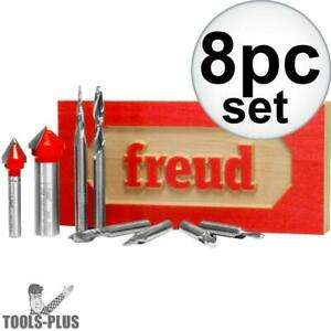 Freud 87 108 8 Piece Cnc Router Bit Signmaking Set New