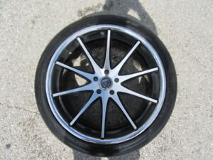 4 Used 22 Inch Rohana Wheels With 4 Used Nitto Tires