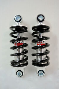 Adjustable Street Hot Rod Front Coil Over Shock Set W 400 Pound Springs Black