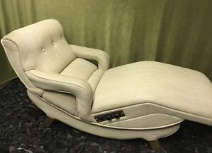 Rare Mcm Mid Century Modern Electric Heated Recliner Chaise Lounge Chair Sofa