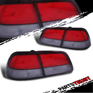 For 1997 1998 1999 Nissan Maxima Gxe Se Gle Red Smoke Brake Tail Lights Lr Lamps