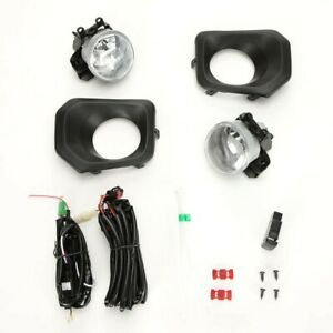 Clear Lens Fog Light Kit For 2016 2019 Toyota Tacoma W Black Bezel Switch Wire