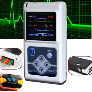 Holter Recorder System 24 Hours 3 channel Ecg Ekg Machine Monitor Software spo2