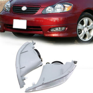 For Toyota Camry Pre Facelift 2002 2004 Car Front Clear Fog Light Lamp Set 2pcs