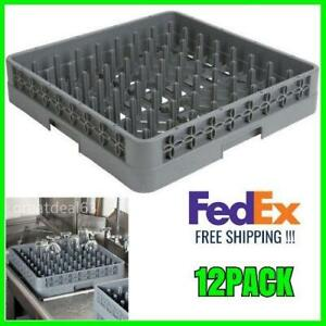 12 Pack Full Size Commercial Restaurant Dishwasher Machine Cup Peg Tray Rack