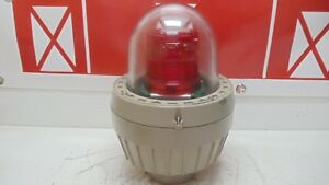 Federal Signal Explosion Proof Led Warning Light 27xl Red V100 265vac New