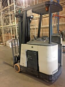 Crown Model Rc3020 30 2001 3000 Lbs Capacity Great Docker Electric Forklift