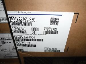 Emerson Copeland Scroll Compressor 208 230v Zp21k6e pfv 830 skid8