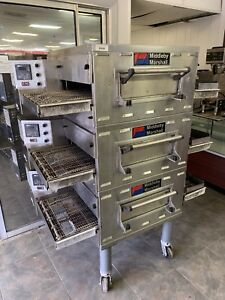 Middleby Marshall Ps528g Conveyor Oven Gas Triple Stack