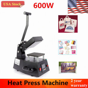 600w Heat Press Machine T shirts Transfer Sublimation Hat Logo Printing Usa