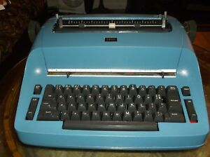 Ibm Antique Selectric I Re furbished Blue Vintage 1960s Typewriter