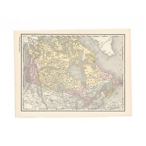 Antique Map Of British North America From The 1899 Imperial Reference Library
