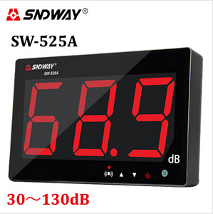Sandway Digital Sound Level Meter 30 130db Large Screen Display Wall Hanging Ty