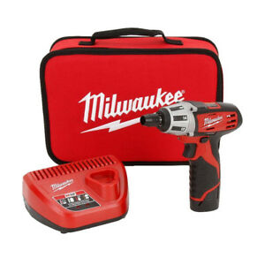 Milwaukee 2401 21 M12 1 4 Hex Screwdriver Kit New