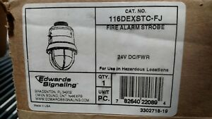 Edwards Signalling 116dexstc fj Fire Alarm Strobe beacon 24v Dc fwr Clear Lens