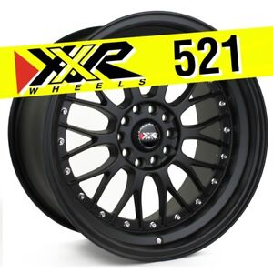 Xxr 521 18x10 5 114 3 5 120 25 Flat Black Wheels Set Of 4 Classic Mesh