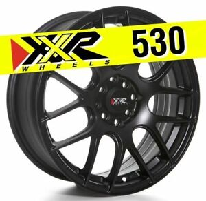 Xxr 530 17x8 25 4x100 4x114 3 25 Flat Black Wheels Set Of 4