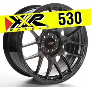 Xxr 530 18x8 75 5x100 5x114 3 33 Chromium Black Wheels Set Of 4