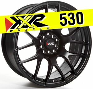 Xxr 530 18x8 75 5x100 5x114 3 20 Flat Black Wheels Set Of 4