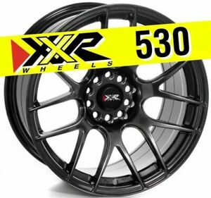 Xxr 530 18x9 75 5x100 5x114 3 20 Chromium Black Wheels Set Of 4