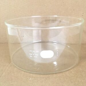 Pyrex Crystallizing 190mm X 100mm 2500ml 3140 Laboratory Ace Petri Glass Dish