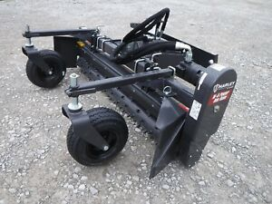 Skid Steer Harley M6 72 6 Manual Landscape Power Rake Attachment Ship 299