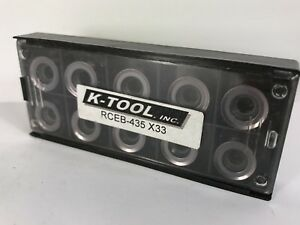 Ktool Rceb 435 New Carbide Inserts Grade X33 10pcs