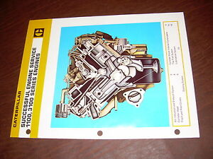 Cat Caterpillar 1100 3100 Engine Specs Truck Brochure Original Antique