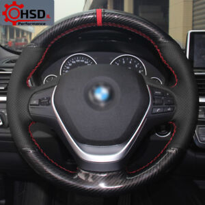 Leather Carbon Sewing Car Steering Wheel Cover For Bmw 316 320 F20 F30 F45 F32 3