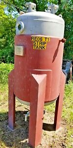 166 Gallon Stainless Reactor Tank 600 L Shell 60 fv Jacketed 75 250 Psi Stand