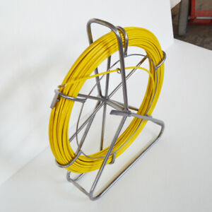 Brand New 8mm Fish Tape Fiberglass Reel Wire Cable Puller Duct Rodder 170547