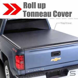 Lock Roll Up Soft Tonneau Cover For 2007 2013 Chevy Silverado 5 8ft Short Bed