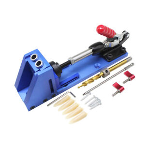 Magideal Mini Pocket Hole Jig Kit System For Wood Working Joinery Tool