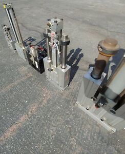 Lot Of 5 Pneumatic Thrusters Double Slide Cylinder All Working Phd See Photos