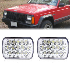 Dot 7x6 5x7 Led Headlight Drl Amber Turn Signal For Chevrolet Jeep Cherokee Xj