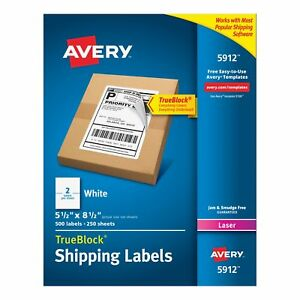 Avery Internet Shipping Labels With Trueblock Technology For Laser Printers