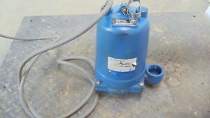 Goulds We1512hh Submersible Effluent Pump 1 5 Hp Single Phase Rpm 3450 V230 New