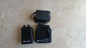 Motorola Minitor V Pager a03kms9239bc vhf with Charger And A c Adapter Power Cor