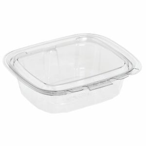 Crystal Seal 8 Oz Clear Plastic Tamper evident Disposable Container 5 11 16 l