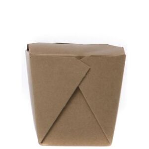 Chinese Food Container 1 Pint Earth Paperboard 3 l X 4 w X 3 1 4 h 450 Per