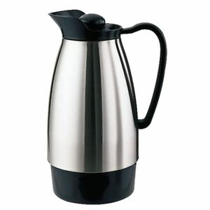 Service Ideas 1 L Brushed Steel Coffee Server With Glass Liner