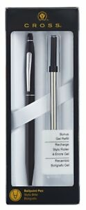 Cross Click Classic Black Ballpoint Pen With Slim Gel Refill at0622s 102