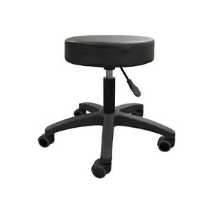 Medical Exam Stool With Wheels Black New
