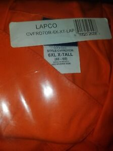 Lapco 6xl xt Extra Tall Deluxe Coverall 6x large Orange