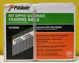Paslode 650388 Hot Dipped Galvanized exterior Framing Nails 2 000 Count New